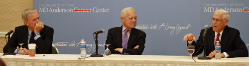 MD Anderson Cancer Center's Legend Bob Schieffer Chats With Buddy Tom Brokaw And Serenades Luncheon Crowd