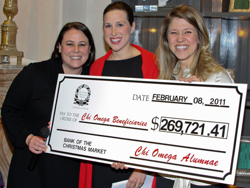Chi Omegas Distribute $269,721.41 Raised From Christmas Market 2010 To Eight Groups