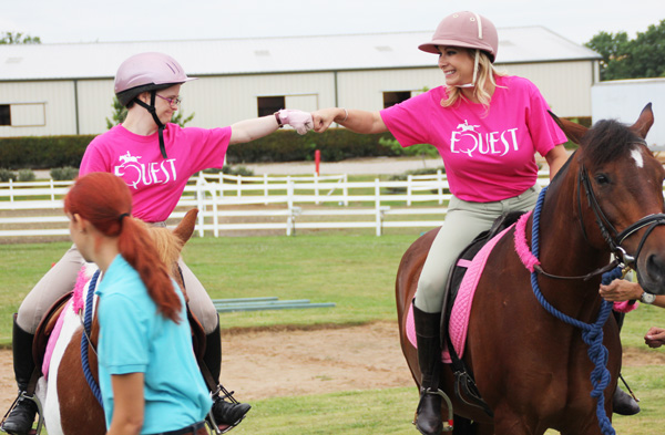 Equest rider Hillary with Dena Miller (File photo)