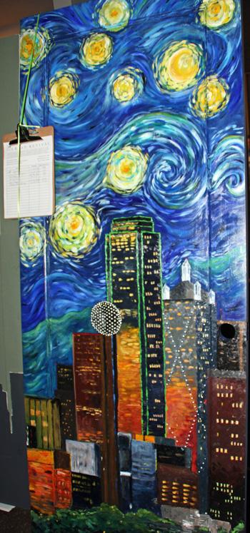 Dallas downtown door ala Van Gogh (File photo)
