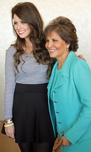 Katherine Scwarzenegger and Gloria Campos
