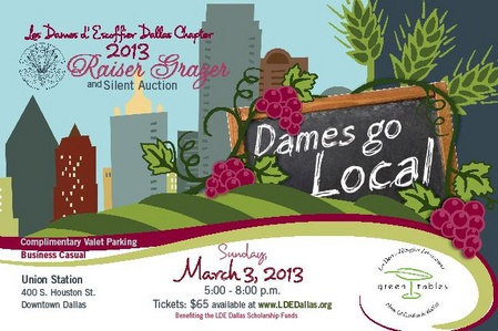 Les Dames d'Escoffier Puts The Emphasis On Local Talents And Products For March 3rd Raiser Grazer