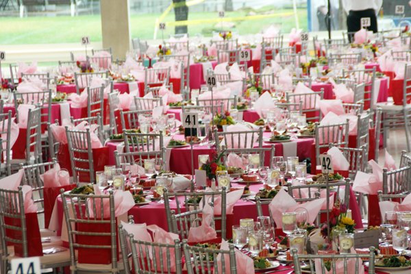 Saint Valentine's Day Luncheon & Fashion Show luncheon tables