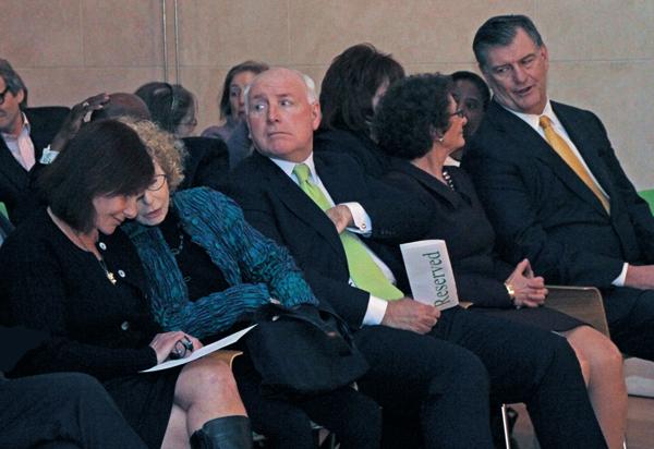 Joanie Nasher, Andrea Nasher, David Haemisegger, Nancy Nasher and Mayor Mike Rawlings