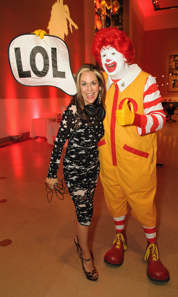 Lucy Wrubel and Ronald McDonald
