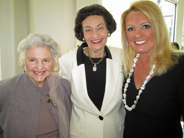 Caroline Rose Hunt, Virginia Chandler Dykes and Myrna Schlegel