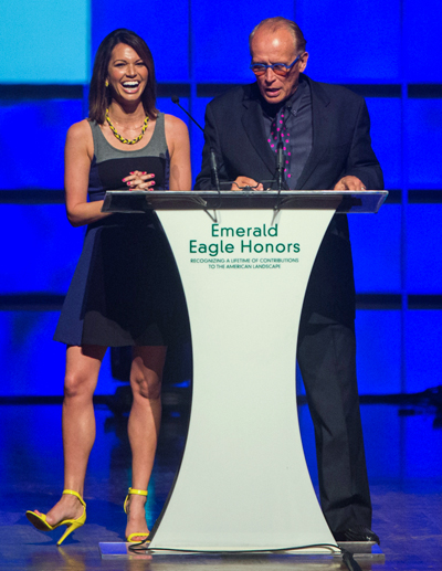 Melissa Rycroft Strickland and Peter Weller (File photo)