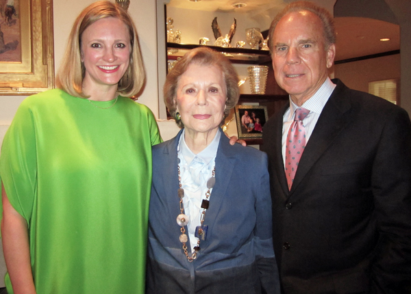 Jennifer Sampson, Ruth Altshuler and Roger Staubach
