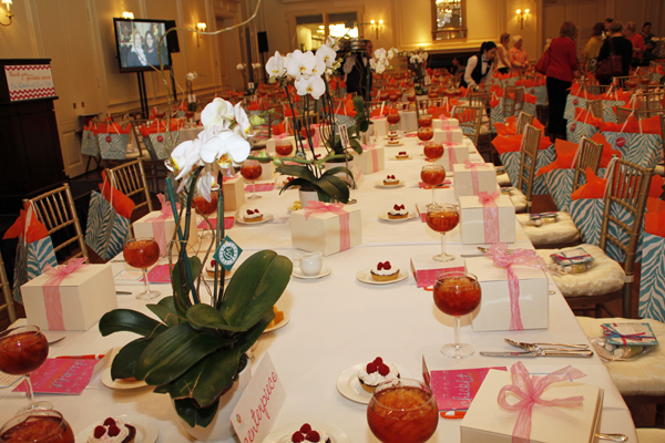 Luncheon tables in ballroom