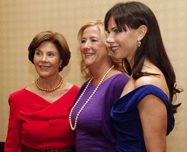 Laura Bush, Gina Betts and Barbara Pierce Bush