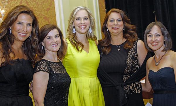 Diana Hamilton, Amy Camp, Brynn Bagot Allday, Michelle Meadows and Jessica Slie Trudeau