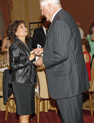 Gloria Campos and Dale Hansen