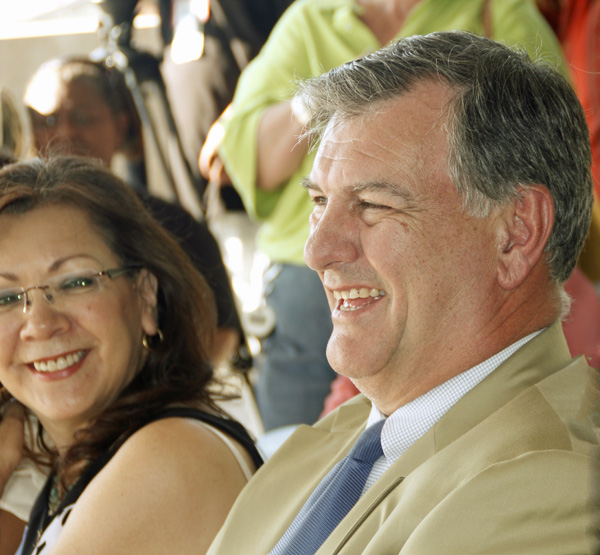 Delia Jasso and Mike Rawlings