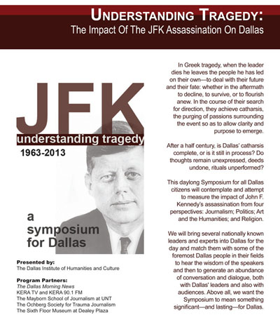 Symposium To Explore The Impact Of The JFK Assassination From Four Perspectives With Nationally Renowned Experts
