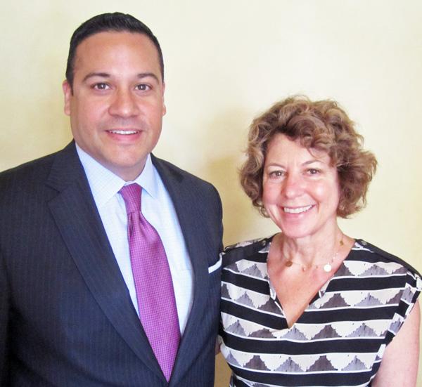 State Rep. Justin Villalba and Judy Rowan