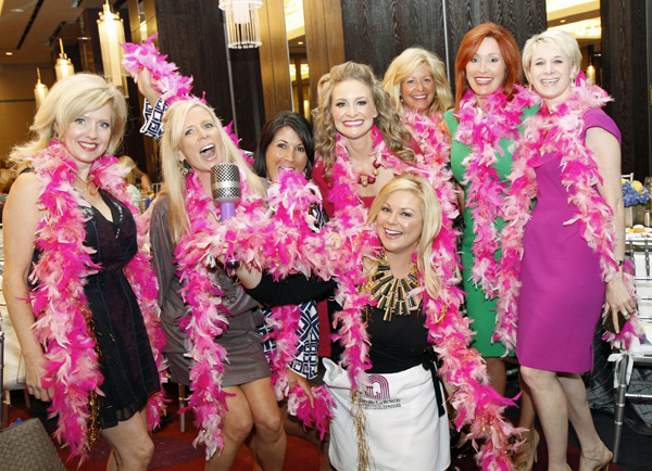 Pink-boa ladies
