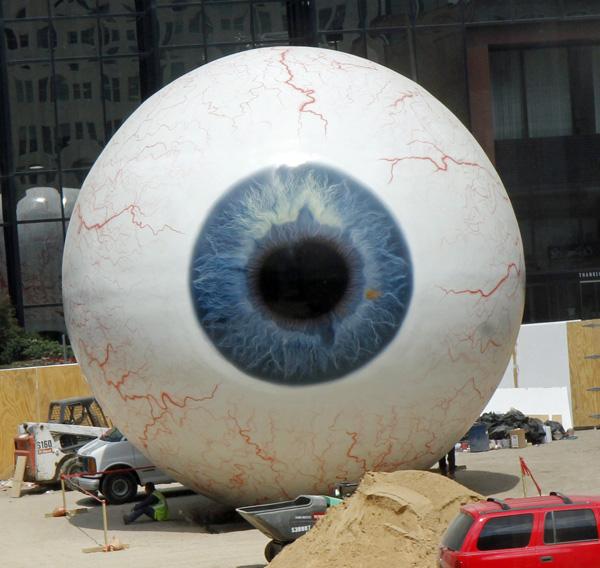 """Giant """"art"""" eyeball"""