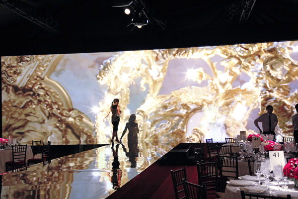 Crystal Charity Ball Fashion Show & Luncheon stage