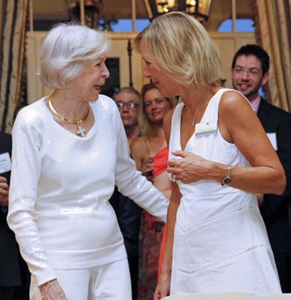 Faye Briggs and Margaret Duncan