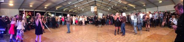 Live auction tent