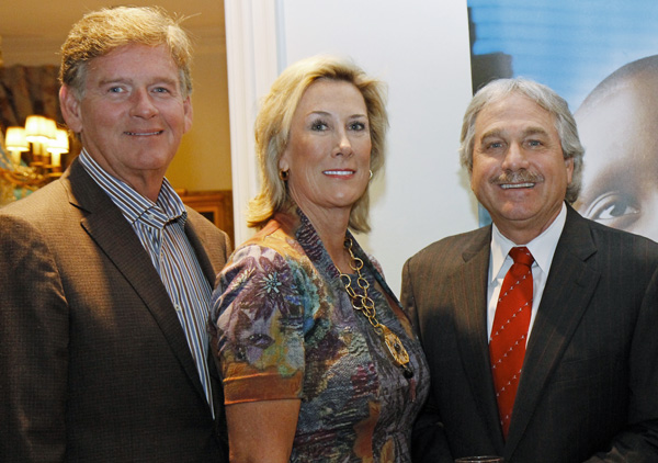 Mark and Karen Carney and Doug Brooks