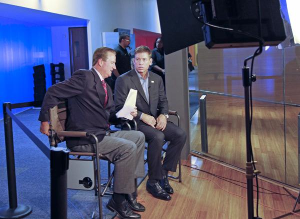 Bill Jones and Troy Aikman