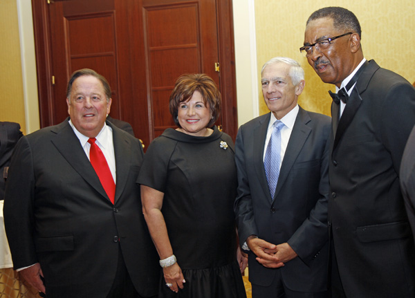Alan and Lee Ann White, Wesley Clark and Charles English