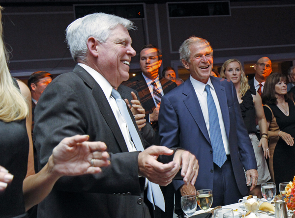 Jim Francis and George W. Bush