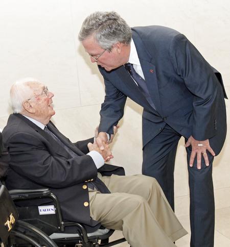 Joel Williams Jr. and Jeb Bush