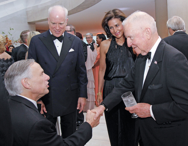 Greg Abbott, Coley and Jennifer Clark and Ross Perot