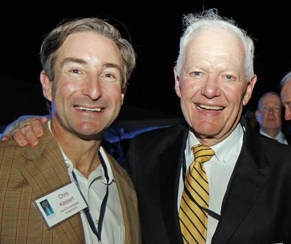 Chris Kleinert and Ray Hunt
