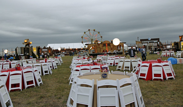 Cattle Baron's Ball outdoor set up