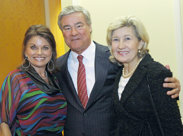 Jan and Trevor Rees-Jones and Kay Bailey Hutchison