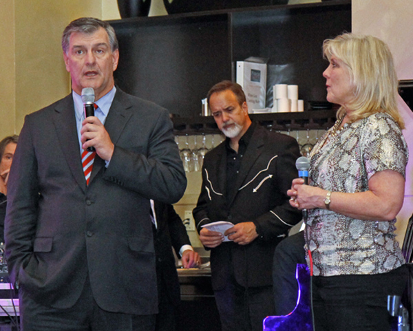 Mayor Mike Rawlings, Jody Dean and Paige Flink