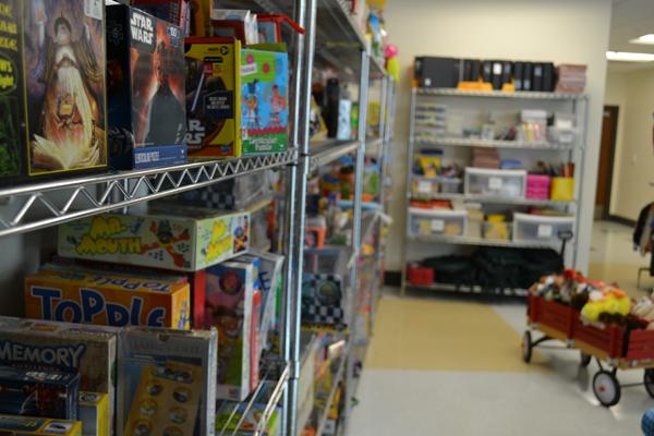 Toys on shelves*