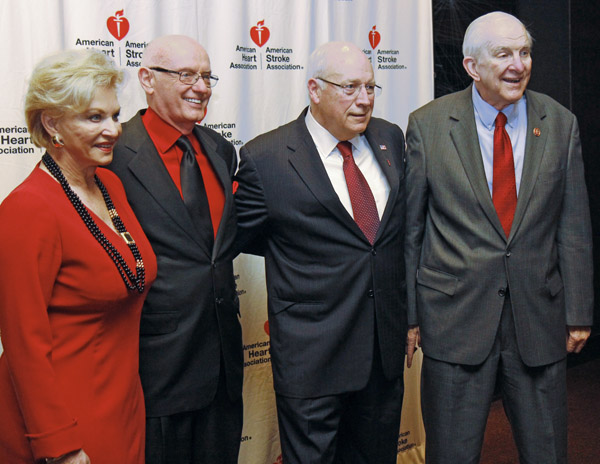 Sandi and Ron Haddock, Dick Cheney and Sam Johnson