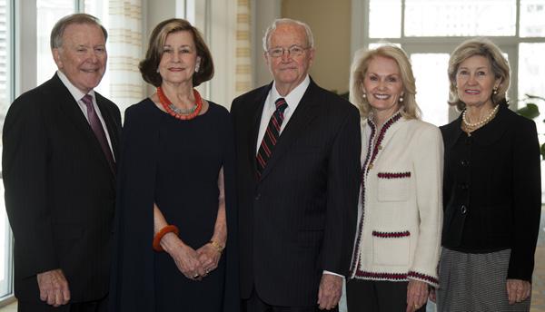 Bobby Lyle, Gail and Bob Thomas, Nancy Cain Marcus and Kay Bailey Hutchison