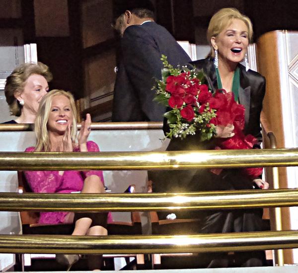 Pamela Brown and Phyllis George