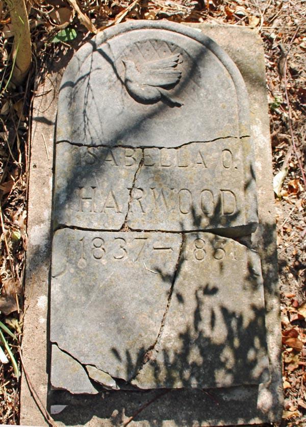 Isabella Daniel Harwood's tombstone (File photo)