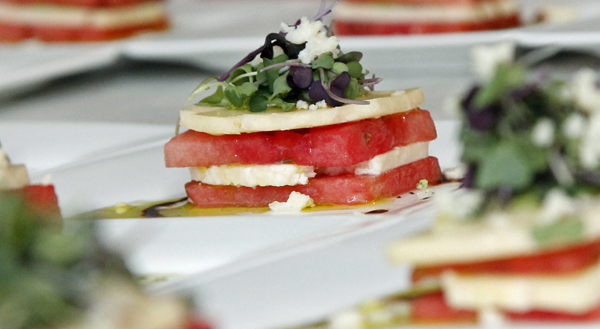 Watermelon stack salad