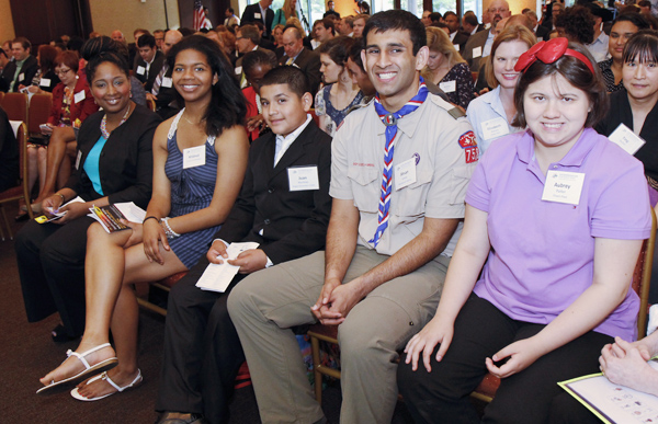 Brittney Johnson, Mildred White, Juan Martinez, Ahsan Vency and Aubrey Parker