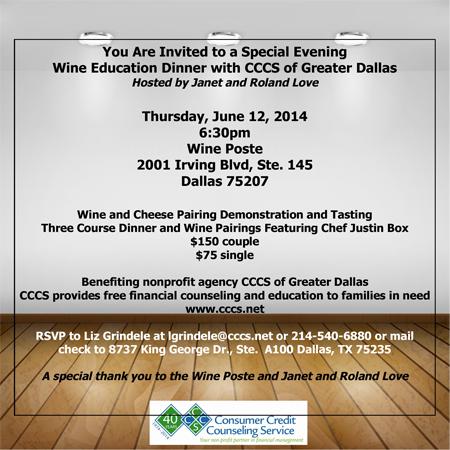 Wine Education Dinner**