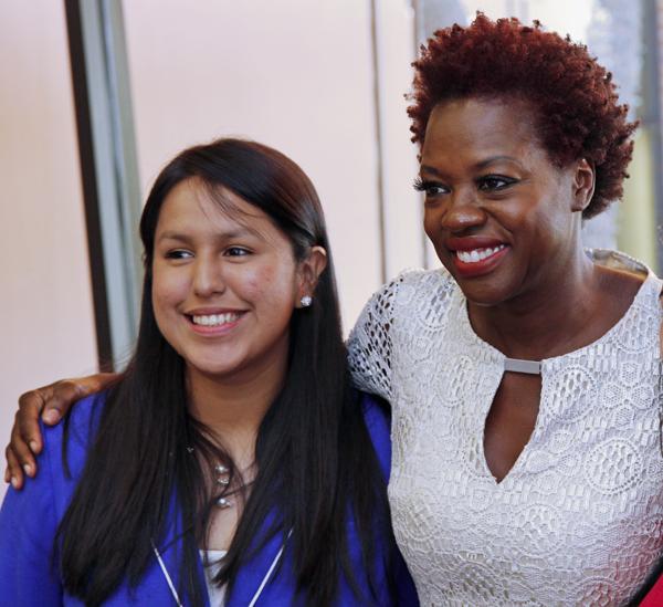 Karla Guadalupe Garcia Rico and Viola Davis