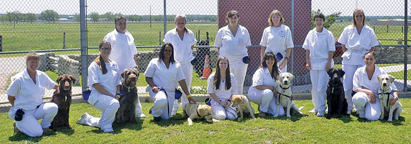 Prison inmates with dogs*