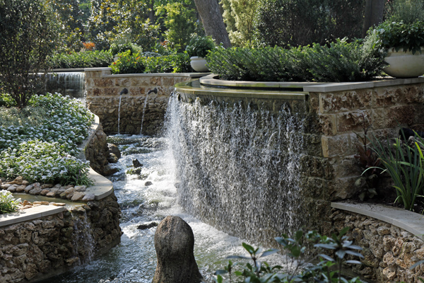 Water feature at Nancy Clements Seay Magnolia Glade