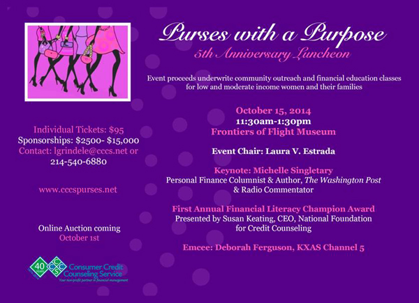 Save The Date for Purses With A Purpose*