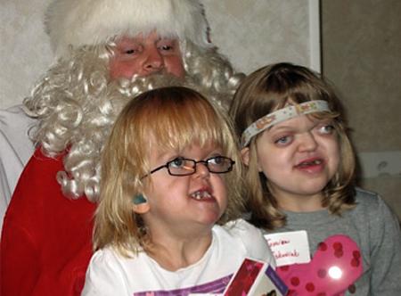 Santa with Dominika and Jessica*