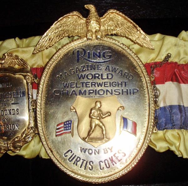 Curtis Cokes' championship belt*