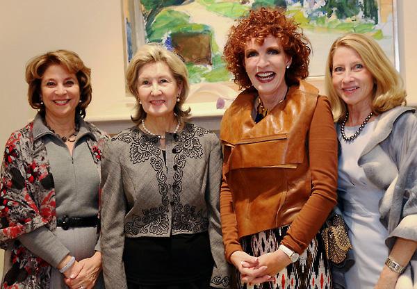 Lydia Novakov, Kay Bailey Hutchison, Sarah Losinger and Debbie Oates