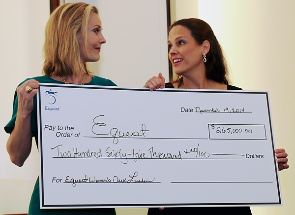 Equest Women's Auxiliary Hands Over A $265,000 Check And Gets Good News In Return